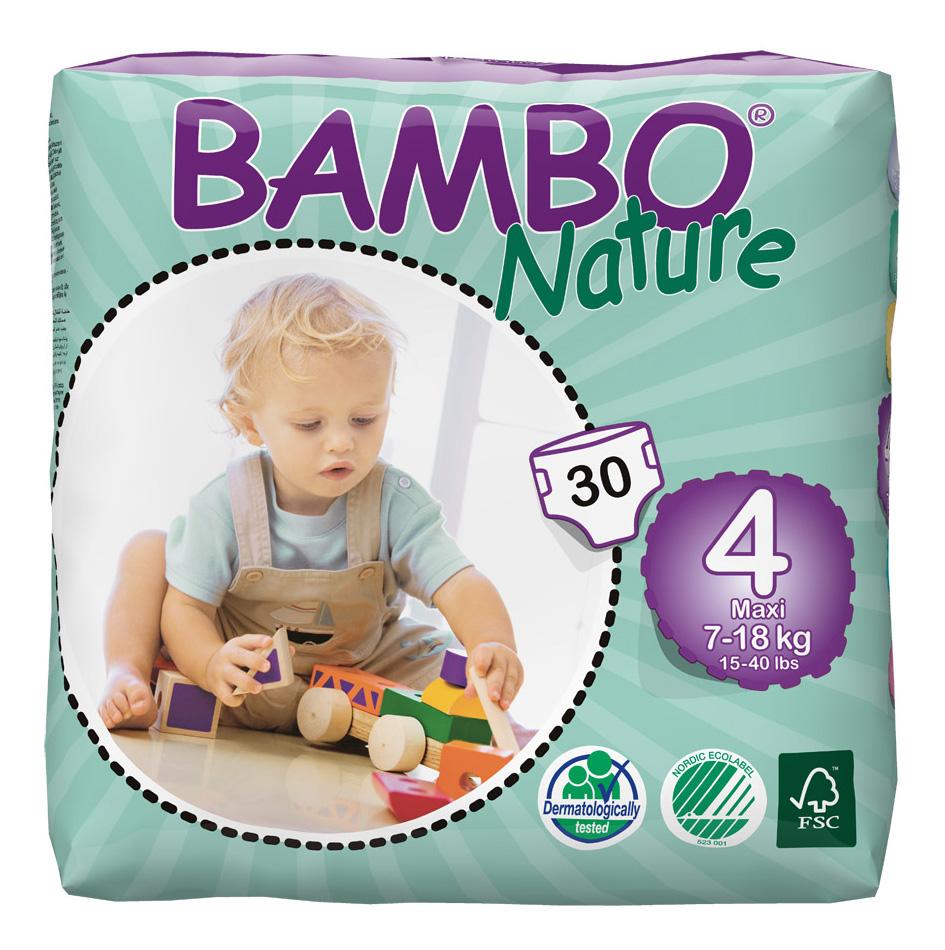 Подгузники Bambo Nature Max (7-18 кг), 30 шт.