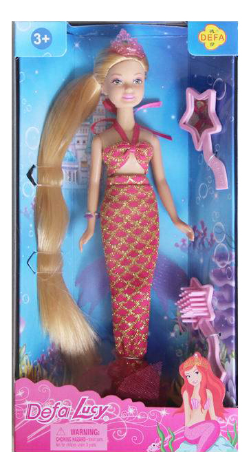 Кукла Кукла-русалка с зеркалом и расчесткой
