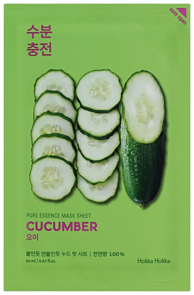Маска для лица Holika Holika Pure essence Mask Sheet Cucumber 20 мл