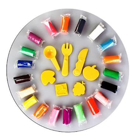 Купить 63779, Паста для лепки Color Puppy 20 цветов, Лепка