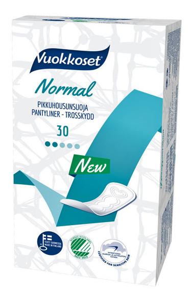 Прокладки Vuokkoset (Вуоккосет), женские, Normal pantyliner ,