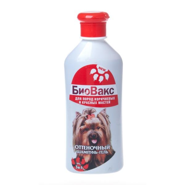 Шампунь-гель для собак БиоВакс Оттеночный для пород коричневых и красных мастей, 305 мл фото