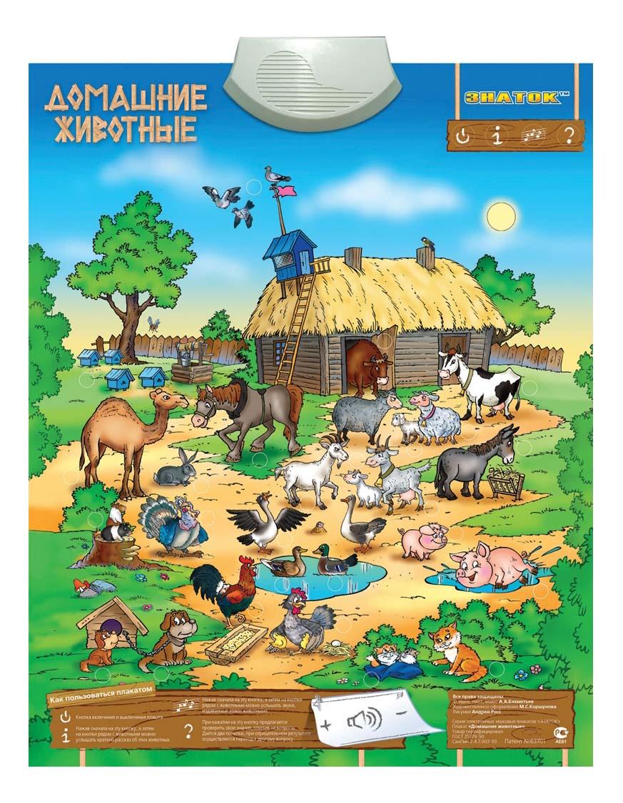 Интерактивный плакат Знаток Домашние животные