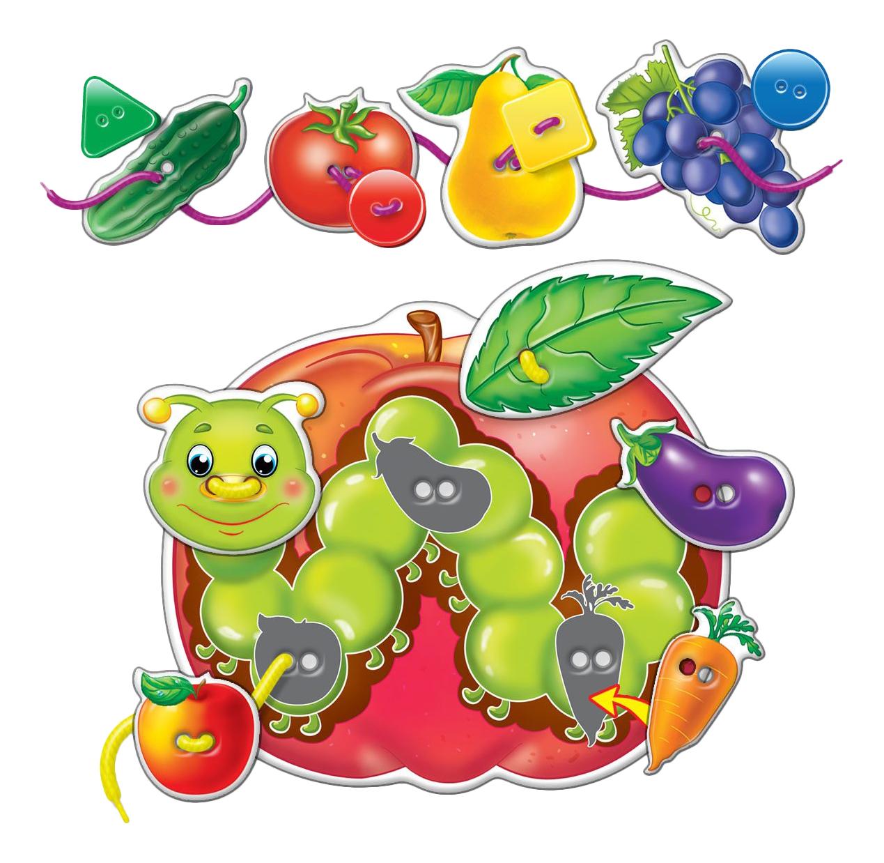 Шнуровка Vladi Toys Фрукты овощи фото