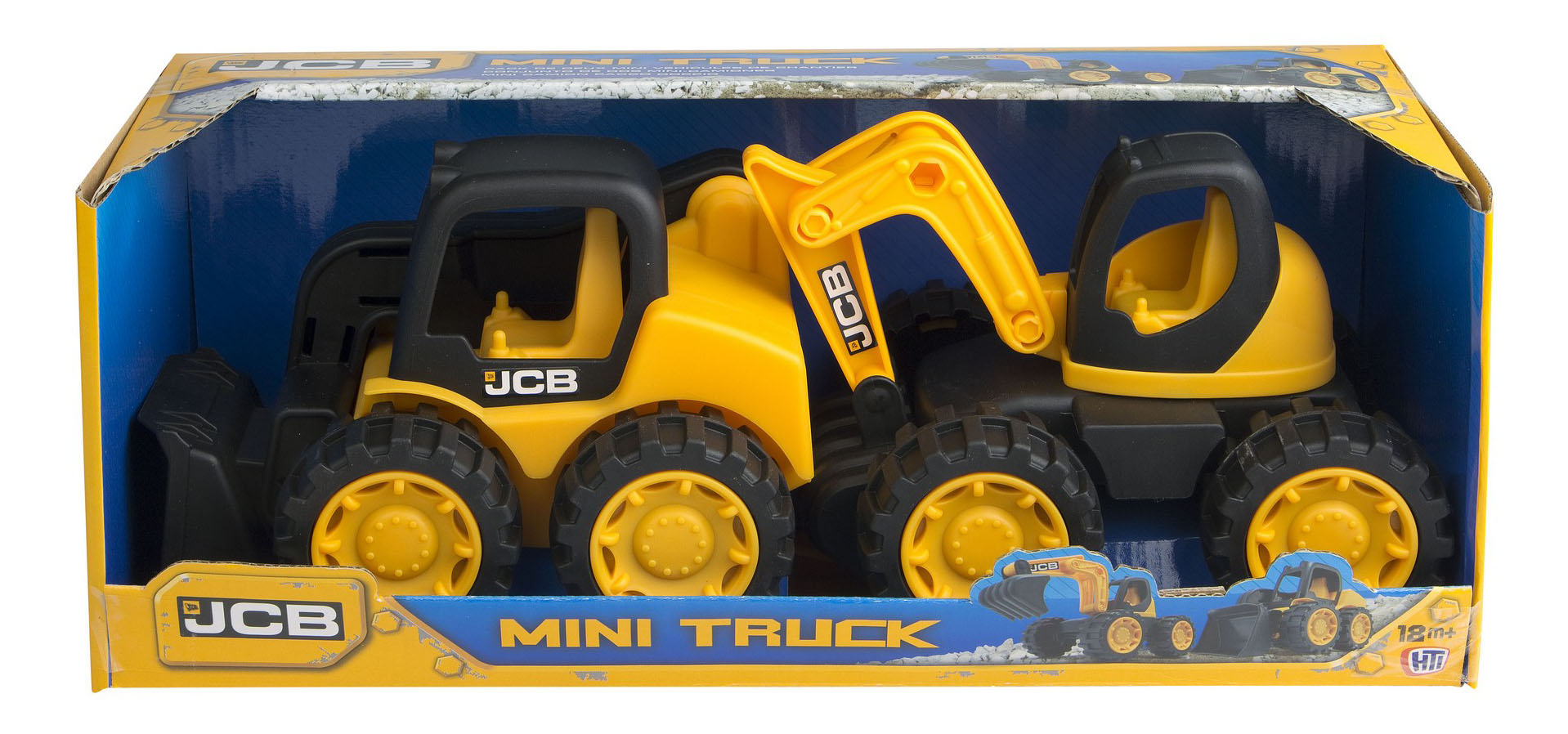 Купить Набор машин строительной техники HTI JCB экскаватор и мини-погрузчик,