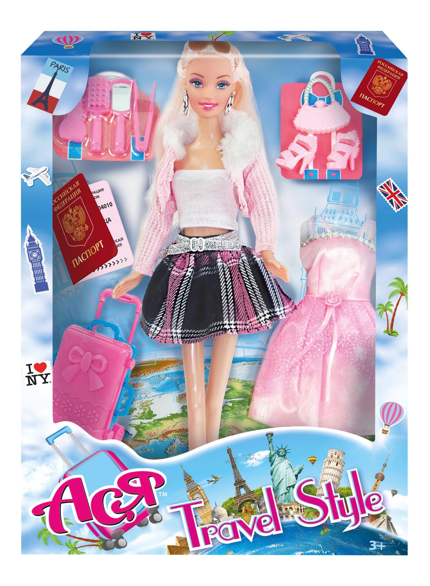 Кукла ToysLab Entertainment Ася Блондинка в розовой кофте