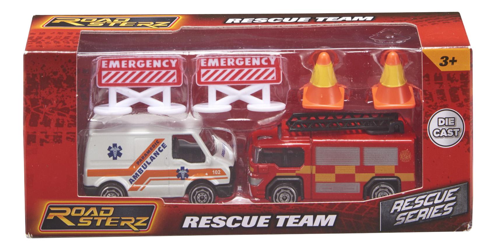 Набор машин городского транспорта HTI Roadsterz транспорт спасателей