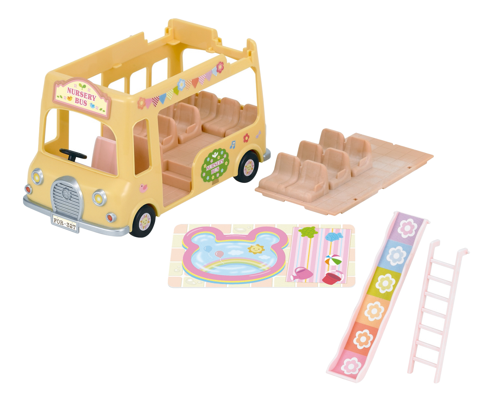 Купить Игровой набор Sylvanian Families Двухэтажный автобус для малышей, Игровые наборы