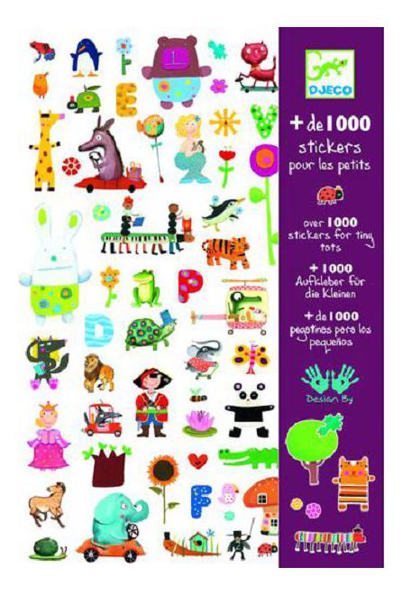 Купить 8950, Наклейка декоративная для детской комнаты Djeco 1000 шт. для малышей, Аксессуары для детской комнаты