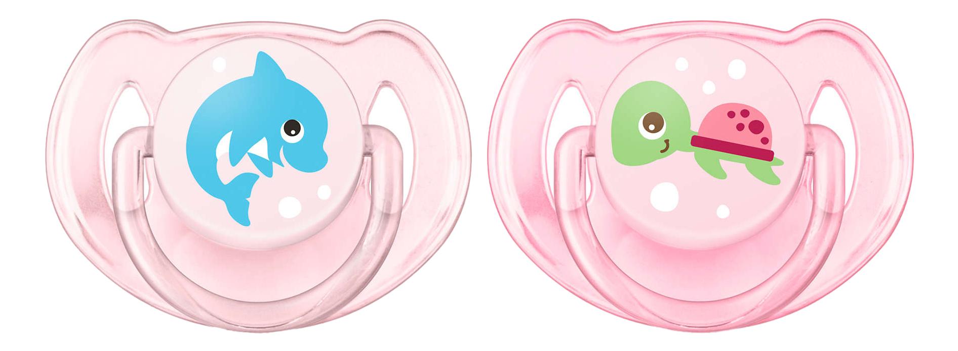 Набор детских пустышек Philips Avent Classic для девочки 6-18 месяцев 2 шт. фото