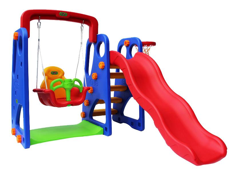 Купить Десткий игровой комплекс Горка + качели Слоник PS-030 Romana, Уличные игровые комплексы