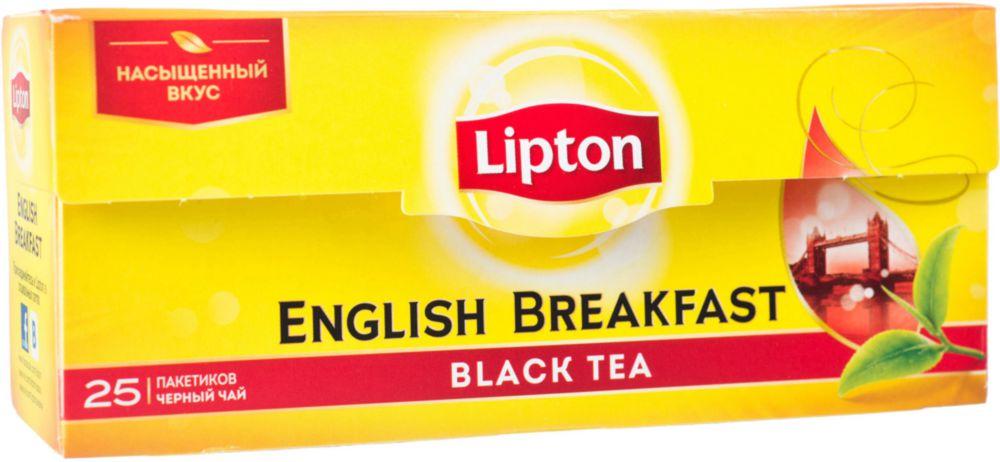 Чай черный Lipton english breakfast 25 пакетиков фото