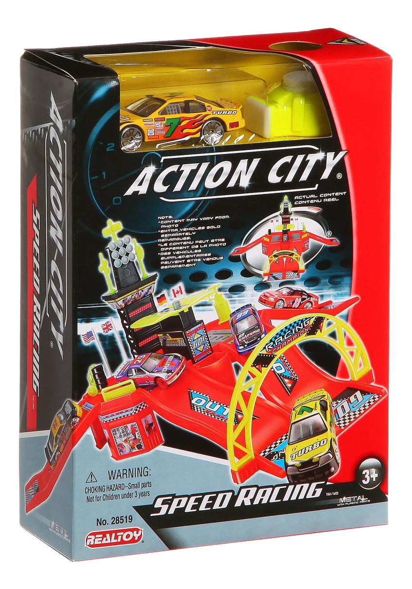 Купить Автотрек RealToy Автодром с 1 машинкой, Детские автотреки