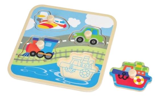 Купить Транспорт, Mapacha Рамка-вкладыш Mapacha транспорт 4 элемента 76671, Развивающие игрушки