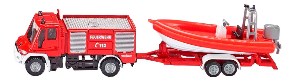 Машина спецслужбы Siku Пожарная машина с катером 1:87 фото