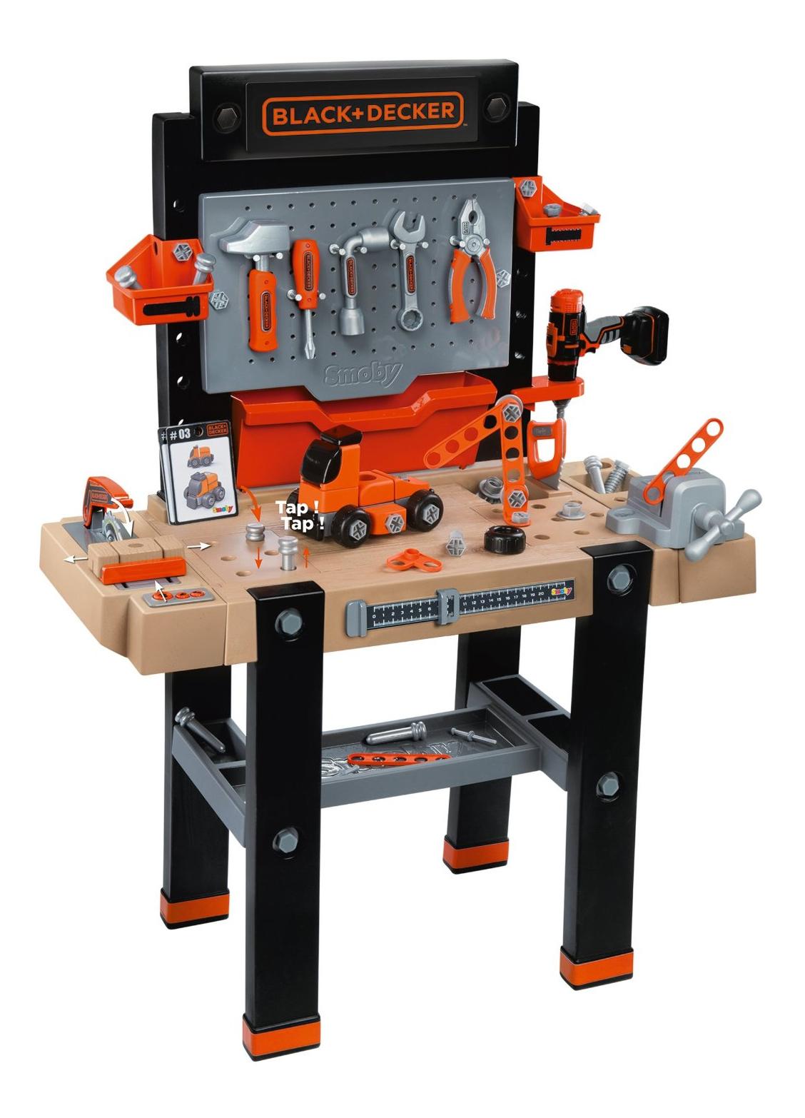 Купить Набор игрушечных инструментов Smoby Black&Decker, Simba, Детские мастерские