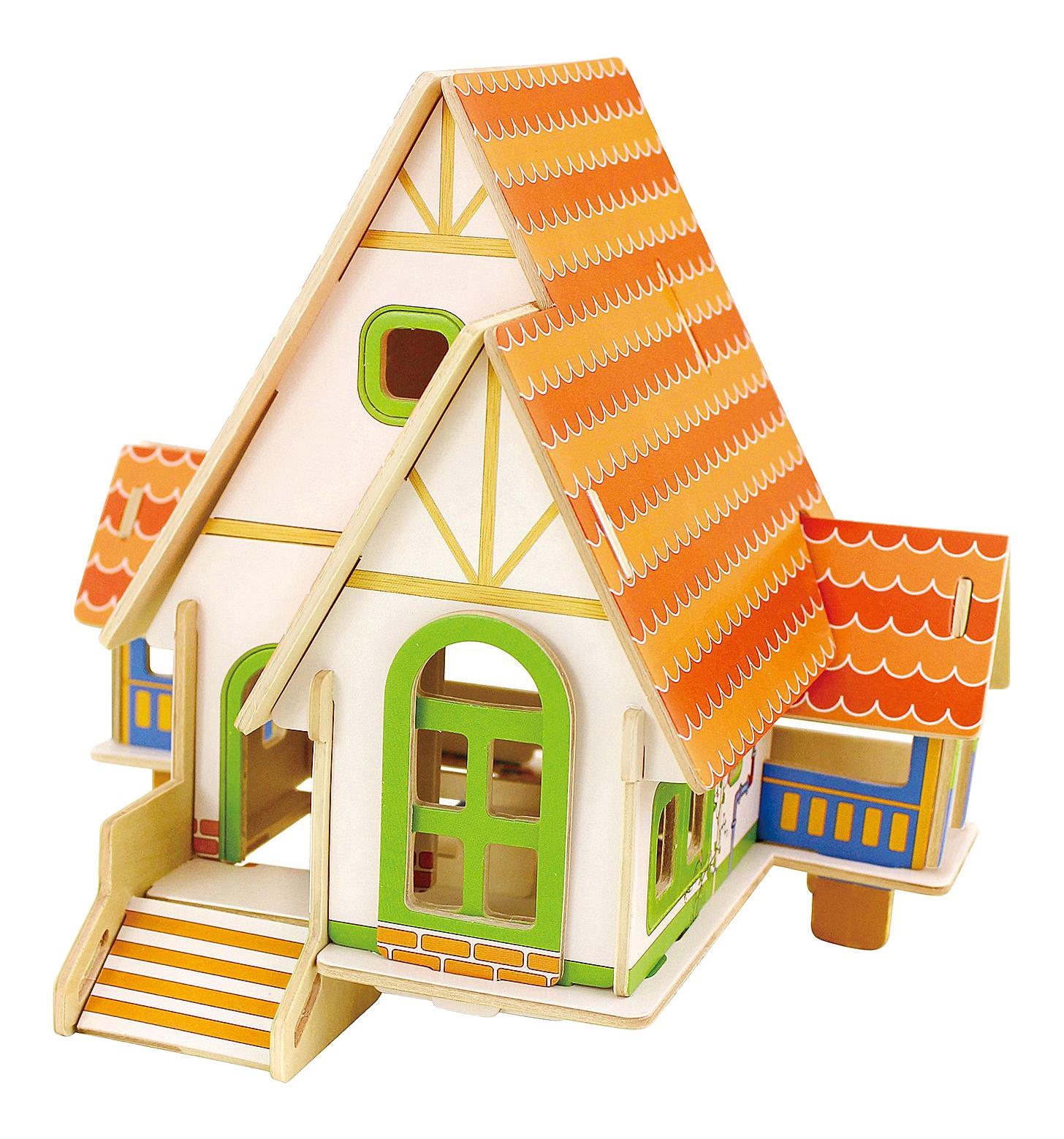 Купить Деревянный домик в лесу, 3D-пазл Bondibon 20 деталей,