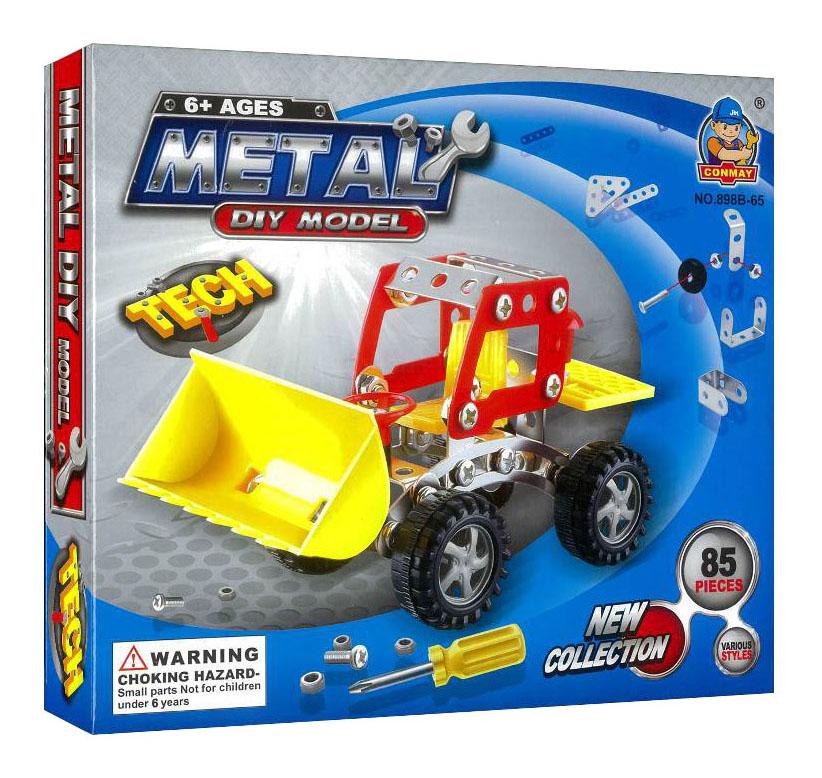 Купить Металлический конструктор Трактор 85 деталей Shantou Gepai B1295104, Металлические конструкторы