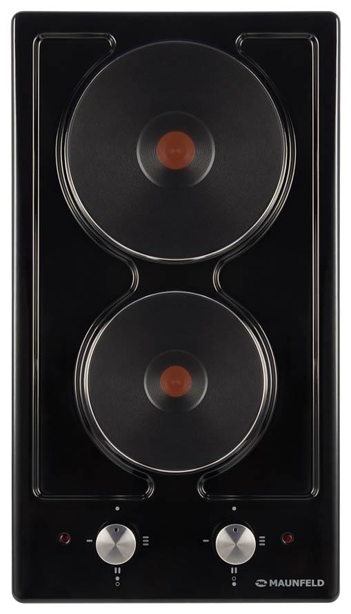 Встраиваемая варочная панель электрическая MAUNFELD EEHE.32.4B Black фото