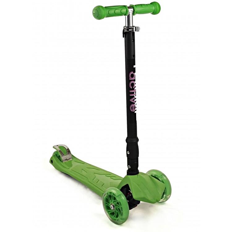 Купить Самокат трехколесный Triumf Active Maxi складной зеленый,