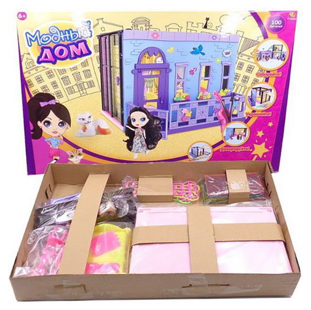 Модный дом ABtoys в наборе с куклой и мебелью, 100 деталей PT-00848
