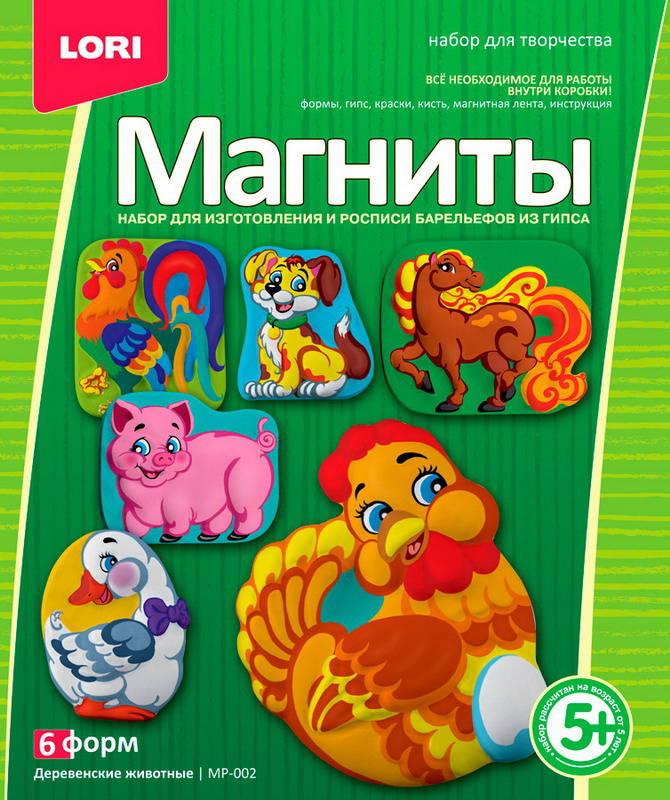 Купить Фигурки на магнитах Деревенские животные, Lori, Развивающие игрушки