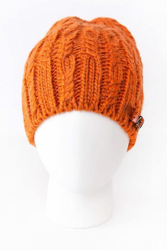 Шапка женская Noryalli 45203 оранжевая ONE SIZE