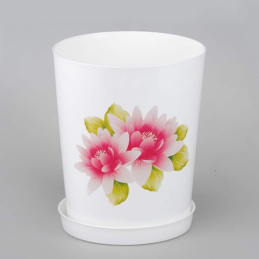 Горшок для цветов с поддоном