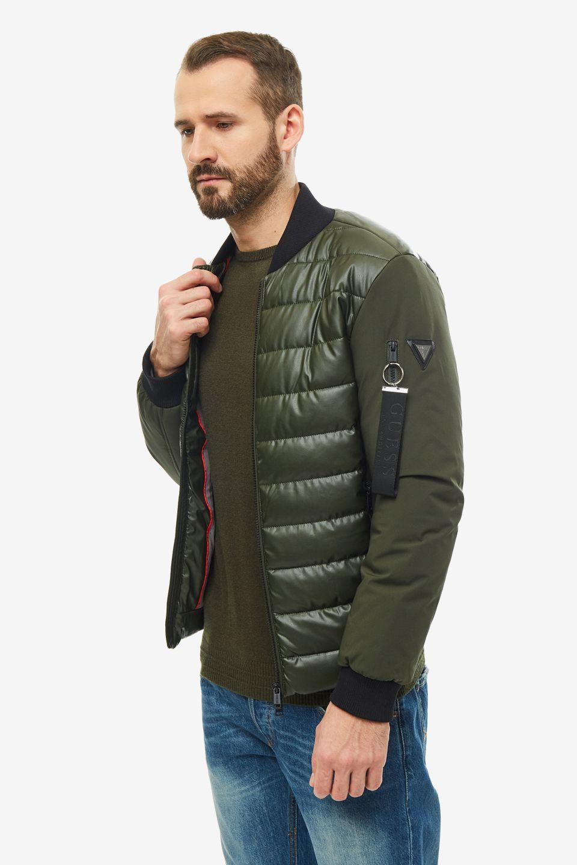 Куртка мужская Guess M94L44-WABC0-G8G9 хаки S