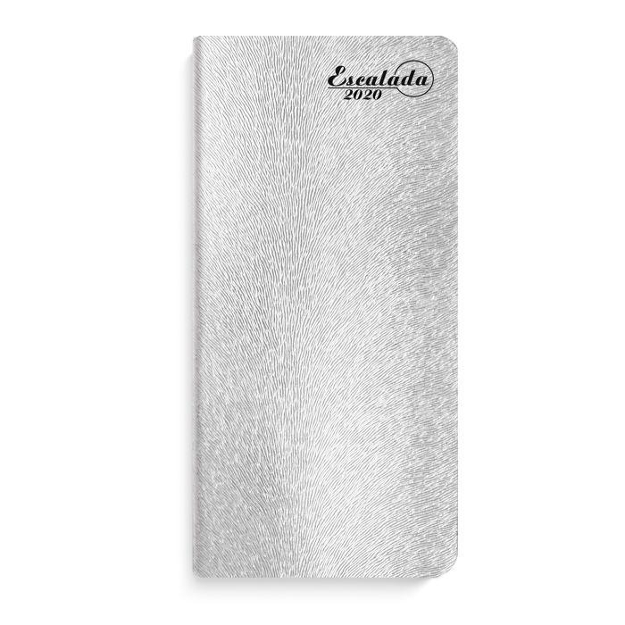 Еженедельник датированный Феникс+ 2020 Кафскин серебряный 80 x 165 мм арт. 50135/20