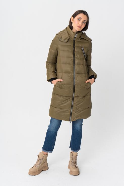Пальто женское Y.A.S 26015840 зеленое XS.