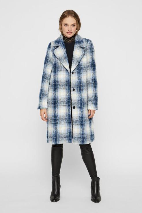 Пальто женское Y.A.S 26015382 голубое S.