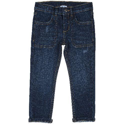 Купить 9008081, Джинсы Chicco для мальчиков с потертостями р.110 цв.темно-синий,