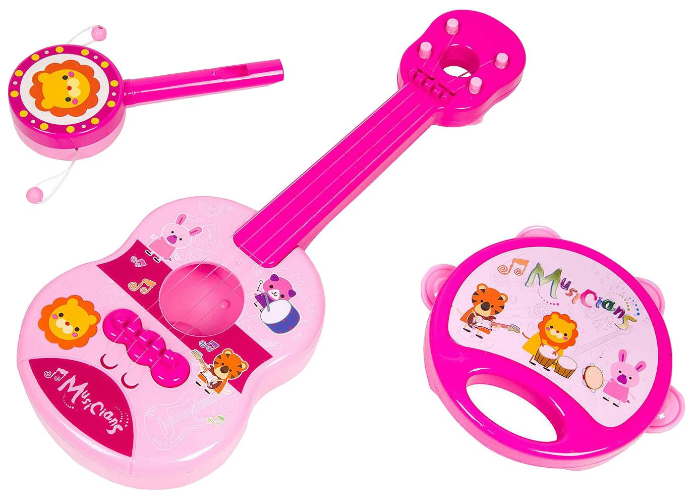 Купить Набор музык. инструментов 3 предмета, серия Моей малышке, PAC 24х26 см, арт.M7663-8., Yako Toys, Детские музыкальные инструменты