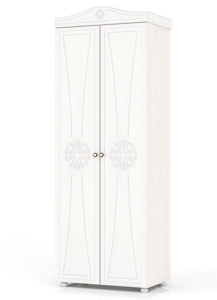 Платяной шкаф Мебельный Двор Онега ШК-31 80х50х224, белый фото
