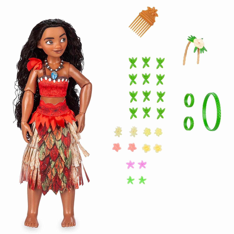 Кукла Disney Princess Моана Сверкающие волосы, Классические куклы  - купить со скидкой