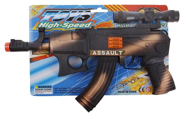 Автомат-трещотка Toys High-Speed, NoBrand, Стрелковое игрушечное оружие  - купить со скидкой