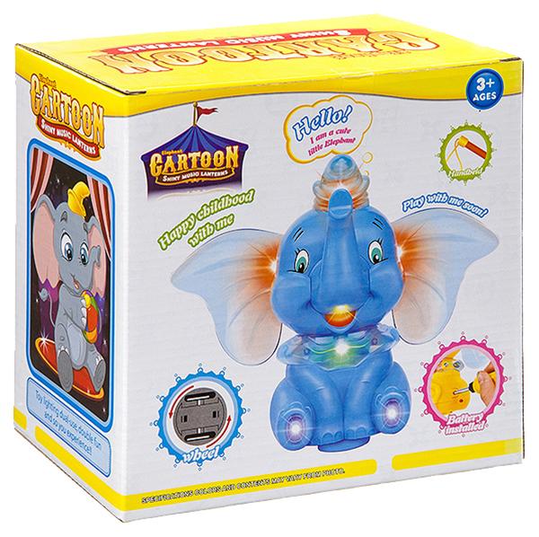 Купить Слон, со световыми и звуковыми эффектами, с проэктором, Shenzhen Jingyitian Trade, Интерактивные животные