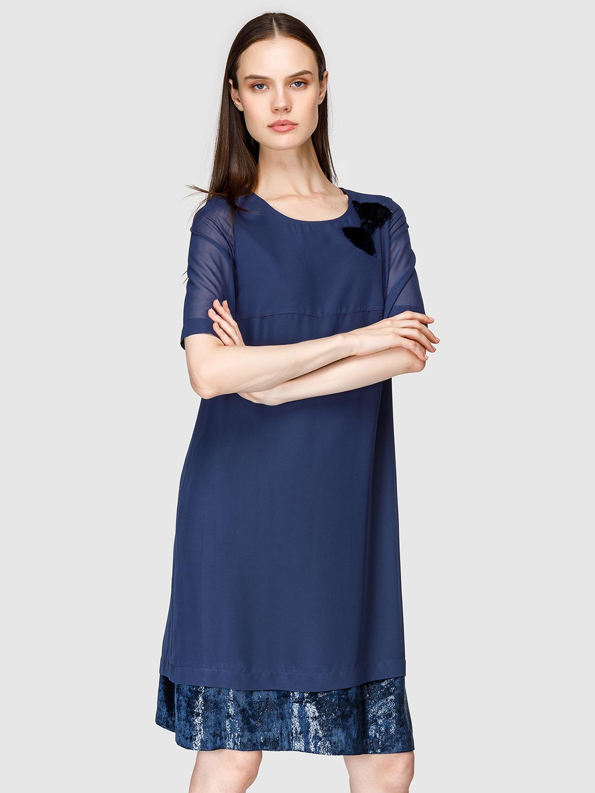 Платье женское Helmidge 7875 синее 14 UK фото