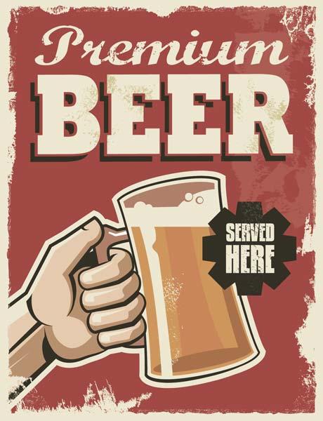 Картина на холсте 30x40 Premium beer Ekoramka HE-101-426