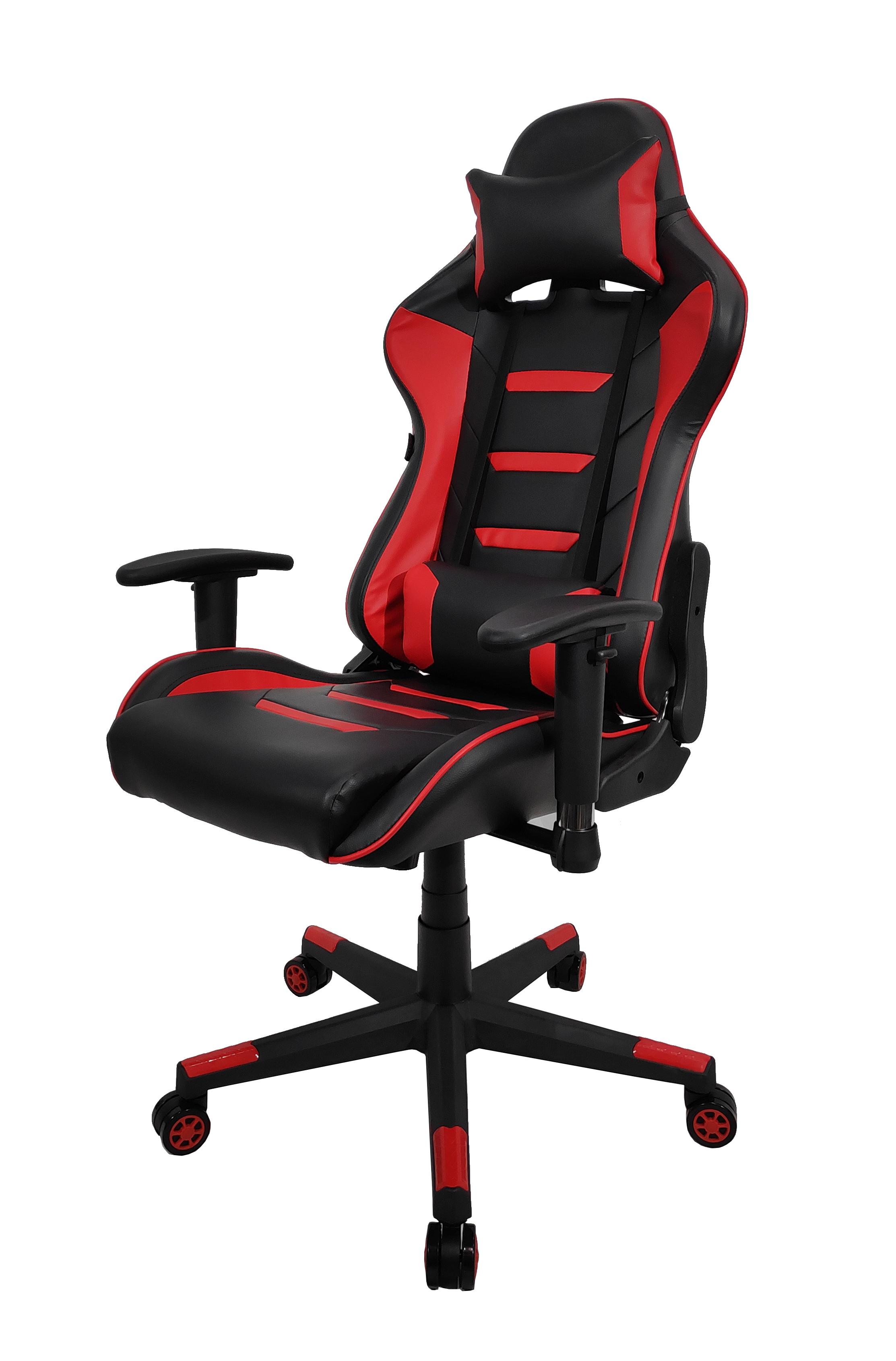 Игровое кресло Raybe K-5936 1066656, красный/черный