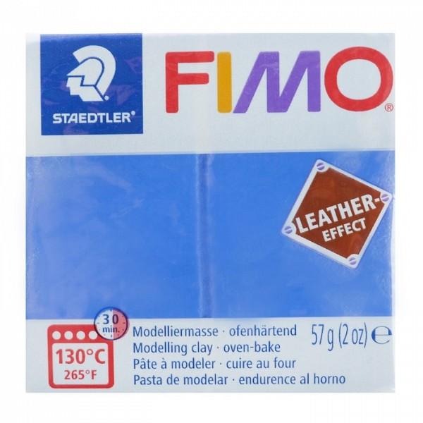 Полимерная глина запекаемая FIMO leather-effect, 57 г, индиго Staedtler