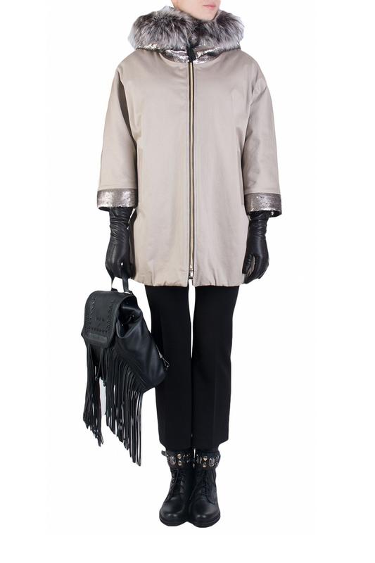 Куртка женская J.N.C. 91331 бежевая 44 IT