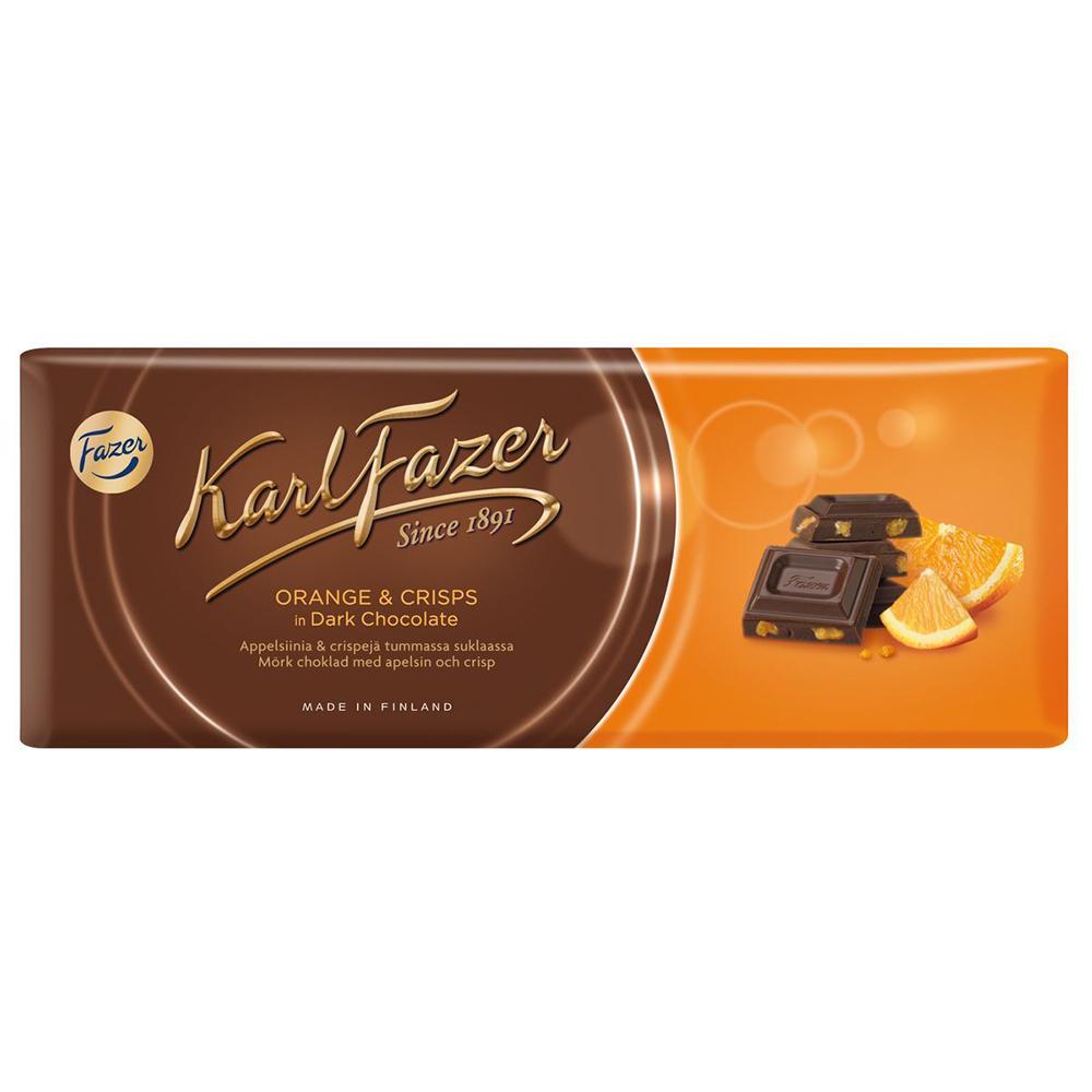 Шоколад Fazer Karl темный со вкусом апельсина 200 г