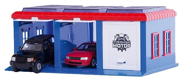 Купить Гараж игрушечный Пламенный мотор Город 870272 2 машины,