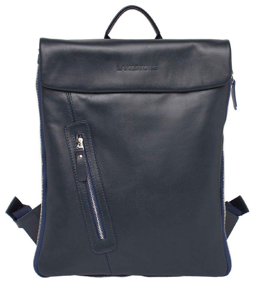 Рюкзак кожаный Lakestone Ramsey синий 5 л фото