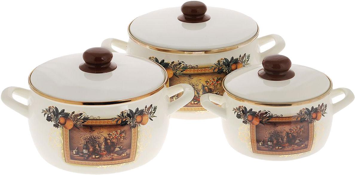 Набор посуды Метрот 127874 Бежевый, коричневый