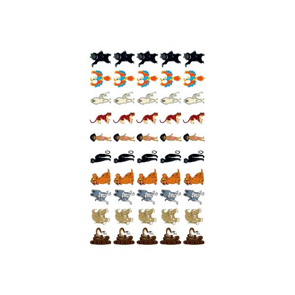 Набор для поощрения на Самоклеящейся Бумаге Герои Мультфильма. Маугли Нм2-12303