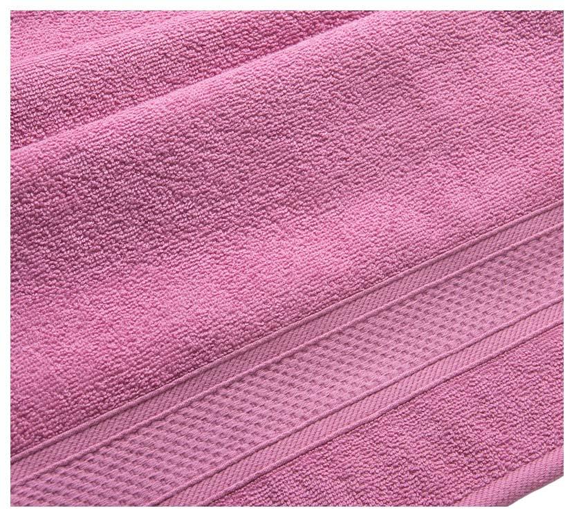 Полотенце махровое с бордюром (фуксия) 70х140