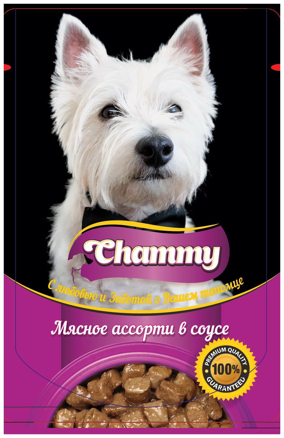 Влажный корм для собак Chammy, мясное ассорти